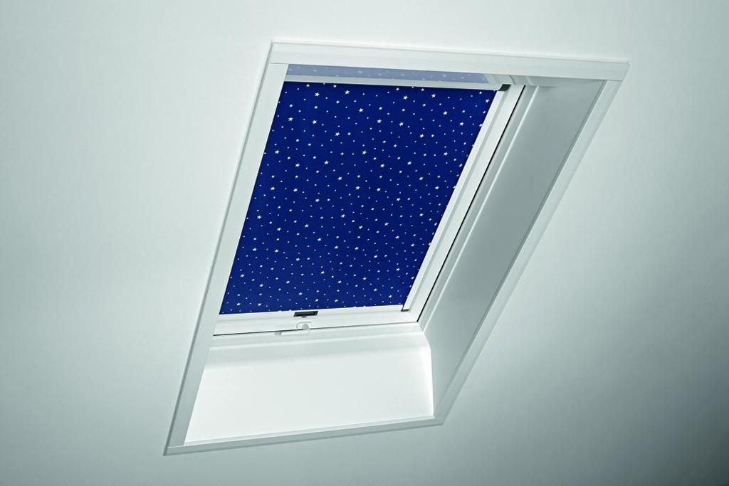 ROTO-Verdunkelungsrollo für Fenstergröße 05/07 Baureihe R8_K 1-V01 Weiß
