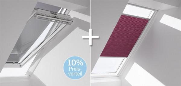 VELUX-Wabenplissee & Markise FOP für Fenstergröße P06